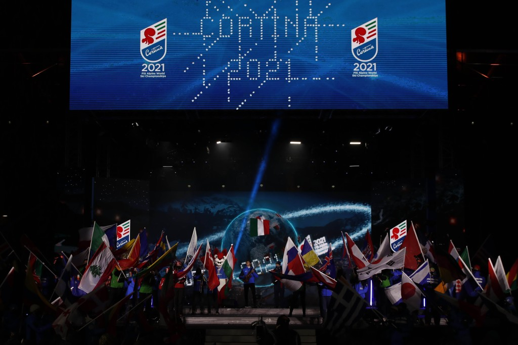 Cortina 2021 Alpine Ski World Championship.  Open Ceremony Cortina d'Ampezzo 07/02/2021 Photo: Pentaphoto Gabriele Facciotti